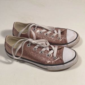 Converse Pink Sparkle Sneakers Little Girl 2